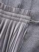 Gray Lapel Slit Long Sleeve Coat