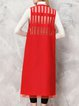 Red V Neck Paneled Sleeveless Plain Vests And Gilet