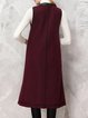 Burgundy Sleeveless Paneled Wool Blend Vests And Gilet