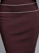 Burgundy Casual Angora-blend Midi Dress