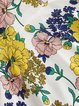 Vintage Long Sleeve Crew Neck Floral-print Midi Dress