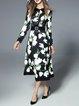 Floral-print Elegant Midi Dress