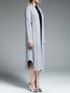 Gray Simple H-line Cashmere Coat