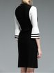 Black Knitted Two Piece Elegant Midi Dress