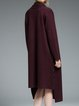 Wine Red Simple Asymmetric Coat