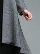 Long Sleeve H-line Simple Asymmetric Coat