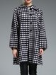 Gray Checkered/Plaid Casual Wool Coat