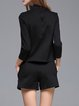 Black Paneled Long Sleeve Two Piece Romper