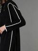 Simple Plain H-line Pockets Coat