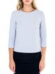 Crew Neck Casual 3/4 Sleeve Solid Top