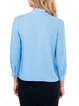 Blue Solid Long Sleeve Cotton Top