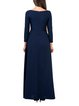 Casual A-line Bateau/boat Neck Long Sleeve Maxi Dress