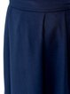 Navy Blue Solid Casual Gathered Maxi Skirt