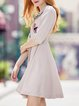 Wrap  Casual Half Sleeve Midi Dress