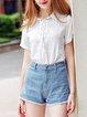 White Shorts Sleeve Shorts Sleeved Top