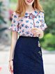 Floral Casual Short Sleeve Tops