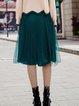 Pleated Simple Midi Skirt