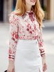 Red Printed/Dyed Blouse