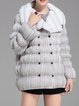 Light Gray H-line Pleated Long Sleeve Coat