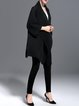 Zig Zag Long Sleeve Polyester Plain Coat With Pockets