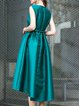 Sleeveless Elegant Swing Folds Midi Dress
