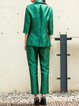 Green Two Piece Formal Plain Suits And Separate