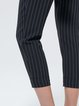 Black Stripes Simple H-line Polyester Straight Leg Pants