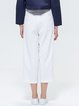 White Simple Pockets Solid Wide Leg Pants