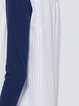 White Sleeveless Cotton-blend Stripes Formal Vests