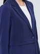 Buttoned Lapel Formal Solid Long Sleeve Blazer
