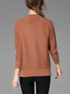 Plus Size Coffee Stand Collar Cashmere Sweater