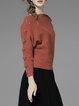 Slash Neck Casual Pleated Long Sleeve Sweater