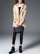 Cotton-blend Long Sleeve Casual Shirt Collar Solid Trench Coat