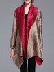 Long Sleeve Shift Vintage Appliqued Reversible Poncho And Cape