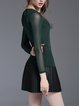 Dark Green Paneled Long Sleeved Top
