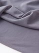 Gray Casual Plain Paneled Crew Neck Long Sleeved Top