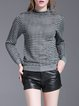 Gray Casual Stripes H-line Knitted Sweater