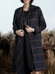 Cowl Neck Buttoned Long Sleeve Wool Blend Casual Coat