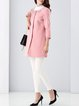 Naked Pink H-line Plain Casual Beaded Coat