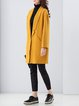 Yellow Lapel Pockets Long Sleeve Coat