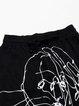 Black Printed Casual Pockets Track Pants