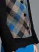 Black H-line Geometric Elegant Buttoned Wool blend Coat