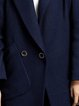Navy Blue Pockets H-line Simple Wool blend Coat