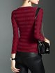 Wine Red Paneled Plain Folds Long Sleeved Top