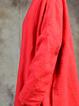 V Neck 3/4 Sleeve Casual Linen Dress