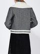 Gray Long Sleeve Lapel Wool-blend Coat