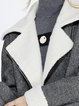 Gray Lapel Long Sleeve Wool Blend Coat