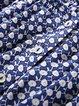 Blue Off-shoulder Petite 3/4 Sleeve Blouse