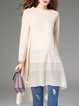 Apricot Casual Knitted Tunic