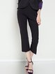 Black Nylon Statement Flared Pant